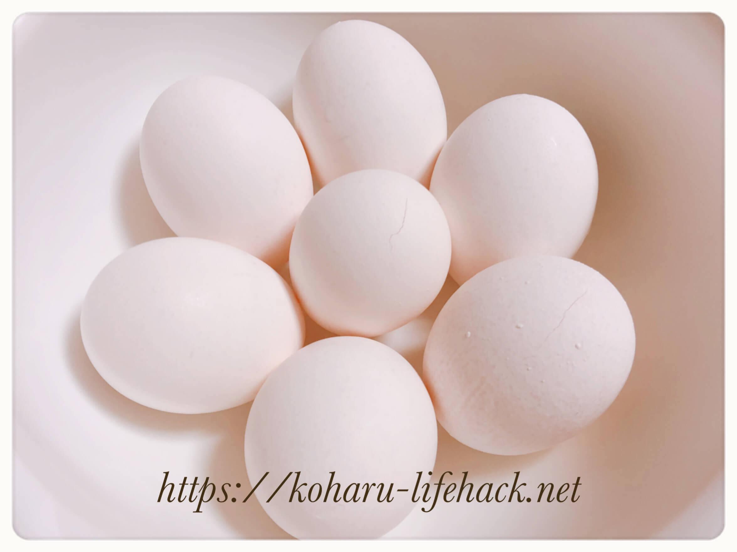 ゆで卵 半熟